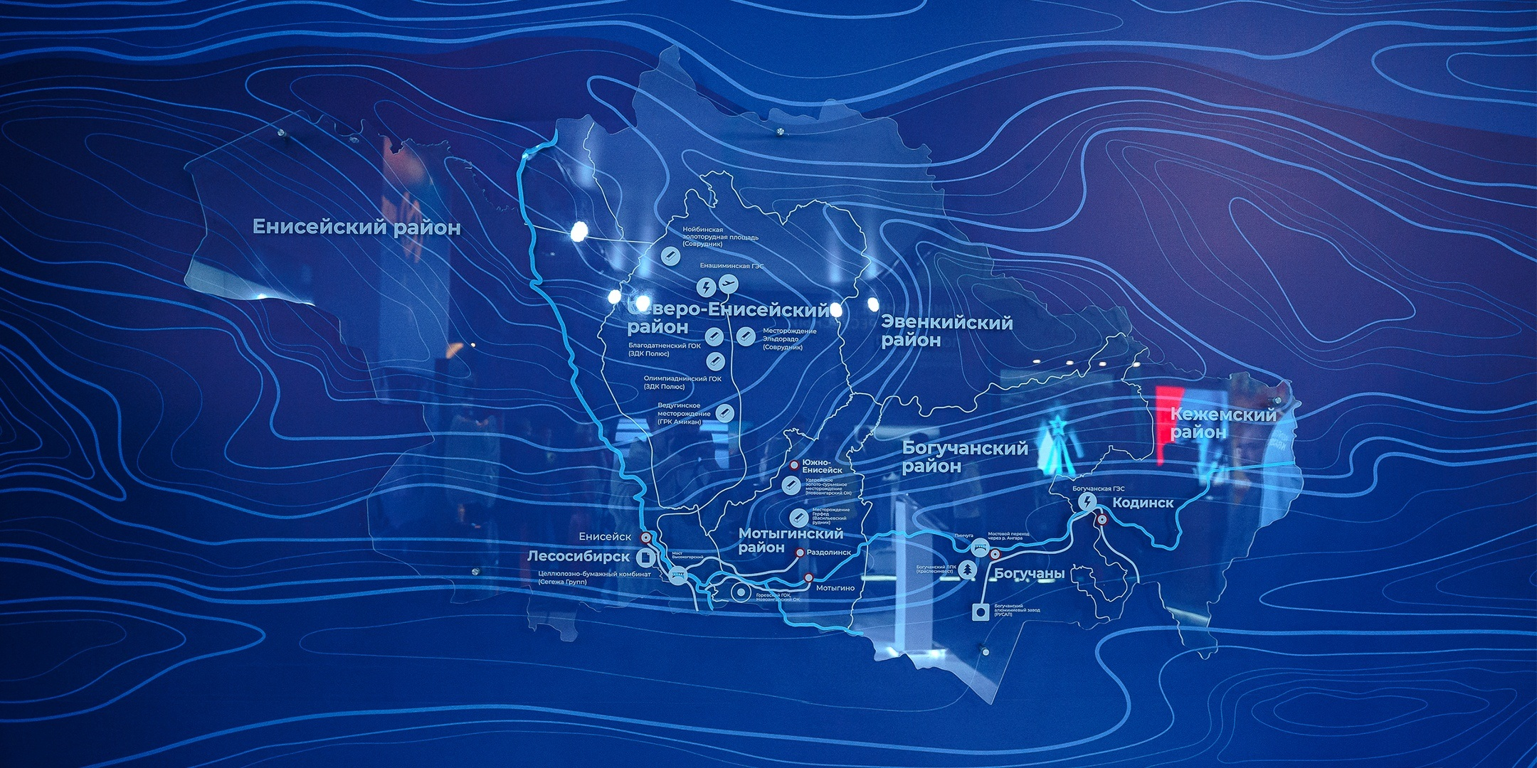 Карта на стенде Енисейская Сибирь